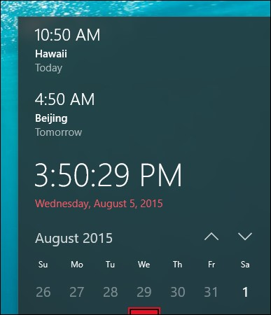 Windows 10 World clock image 2
