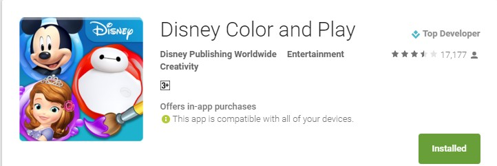 Disney Color and Play Android