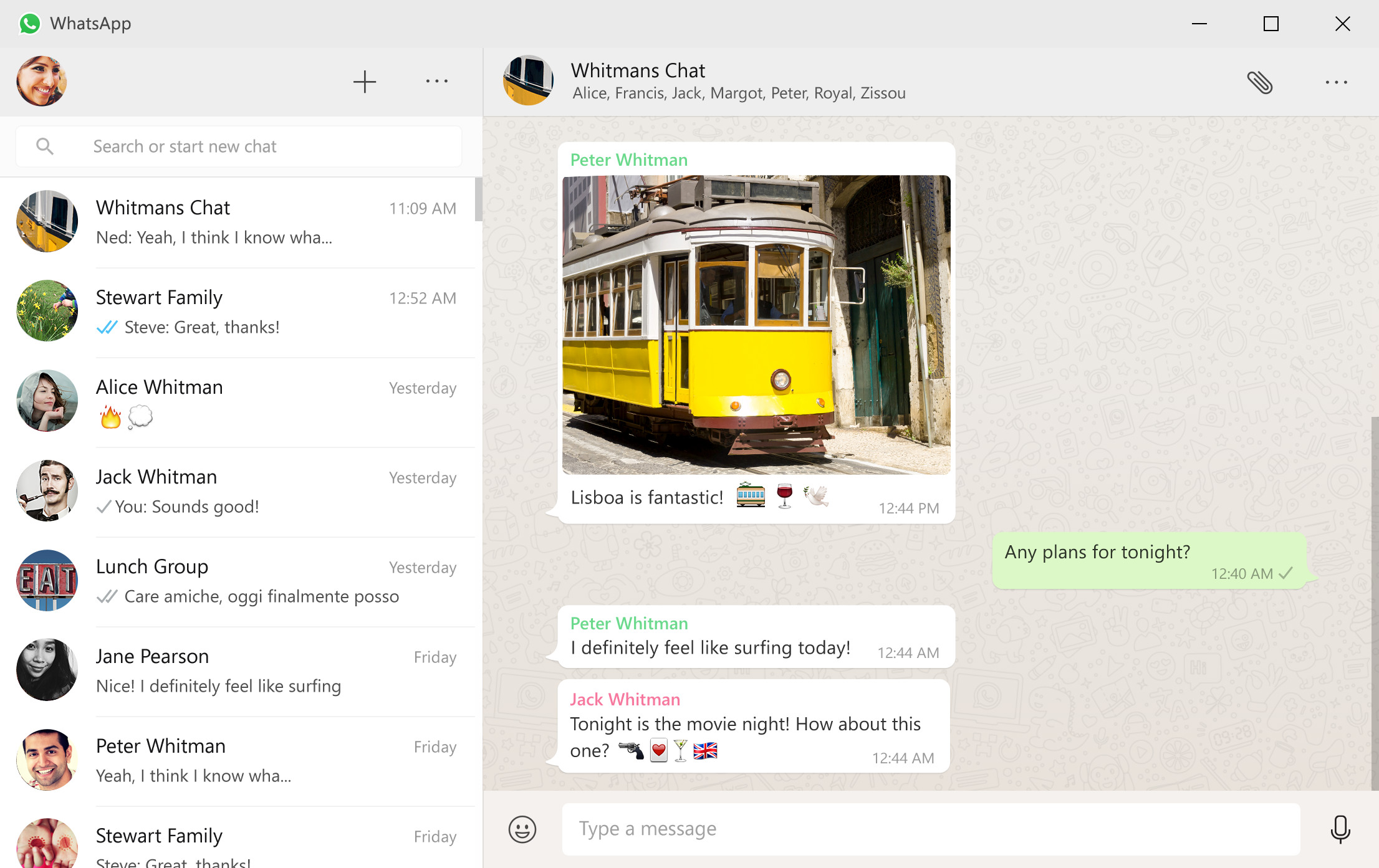 Whatsapp desktop app image